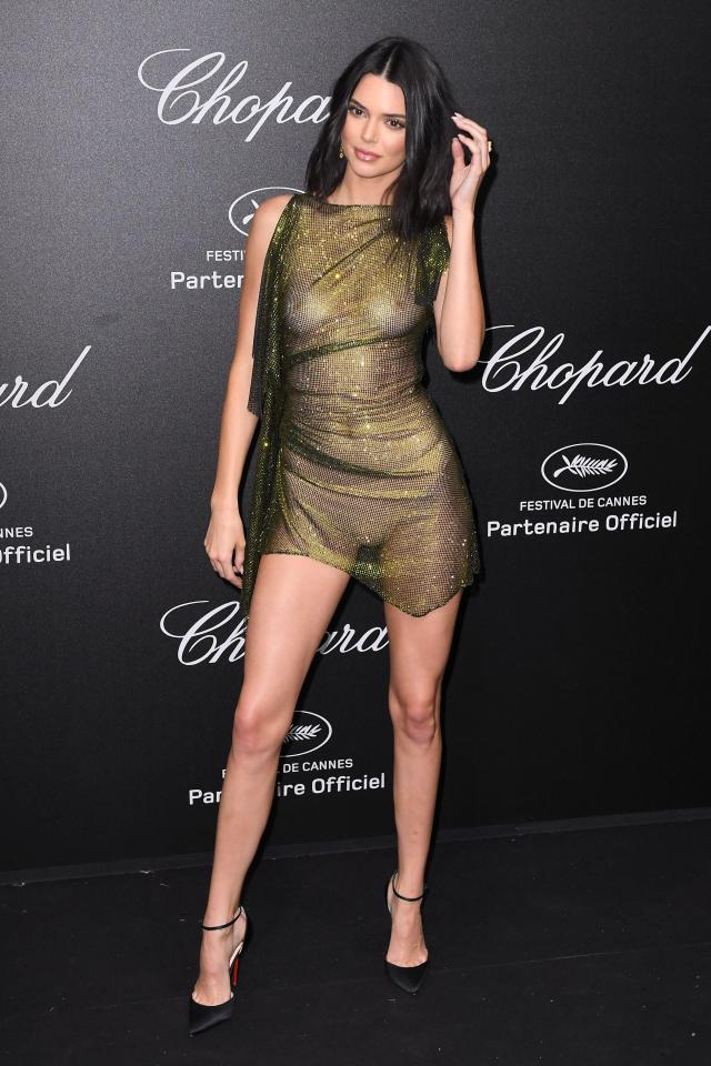 kendall jenner goes braless at cannes film festival party 7