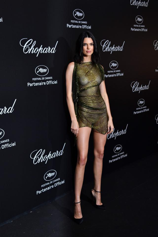 kendall jenner goes braless at cannes film festival party 9