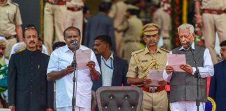 Kumaraswamy Sworn Takes Oath as 25th CM of Karnataka