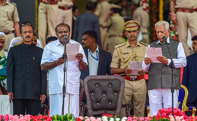 Kumaraswamy Sworn Takes Oath as 25th CM of Karnataka