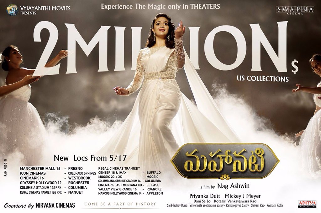 Mahanati Crosses 2 Million Dollar Mark in USA