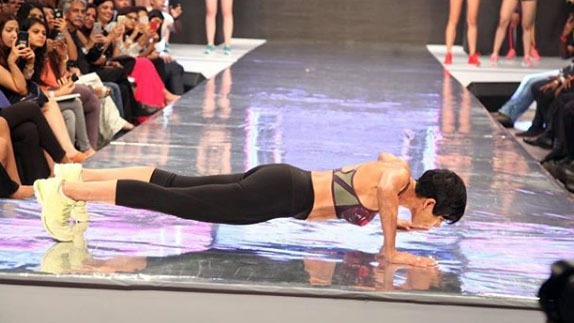 Mandira Bedi Becomes Showstopper for Sports Brand