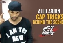 Behind The Scenes of Allu Arjun Cap Tricks for Love Also Fighter Also Song