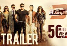 Race 3 Trailer Crosses 50 Million Views on Youtube