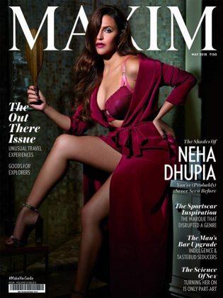 neha dhupia hot photoshoot for maxim 2018 2