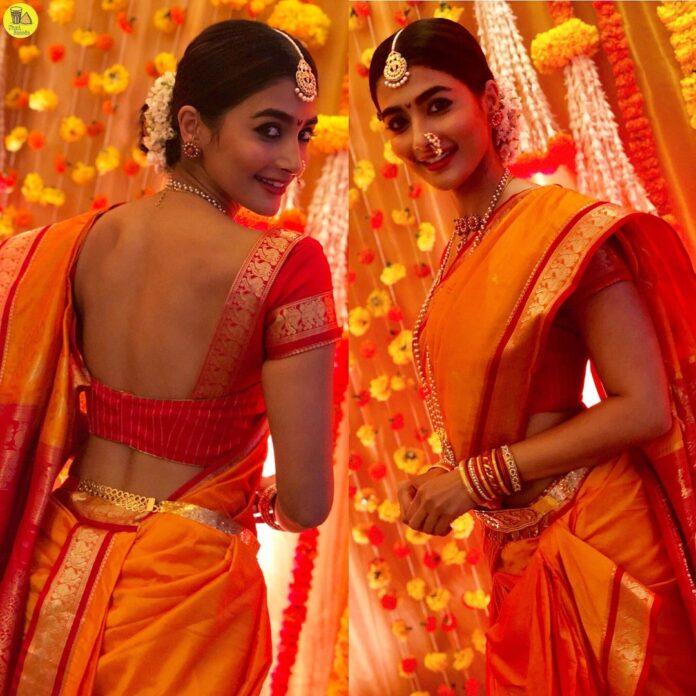 Pooja Hegde In Traditional Maharashtrian Saree Photos