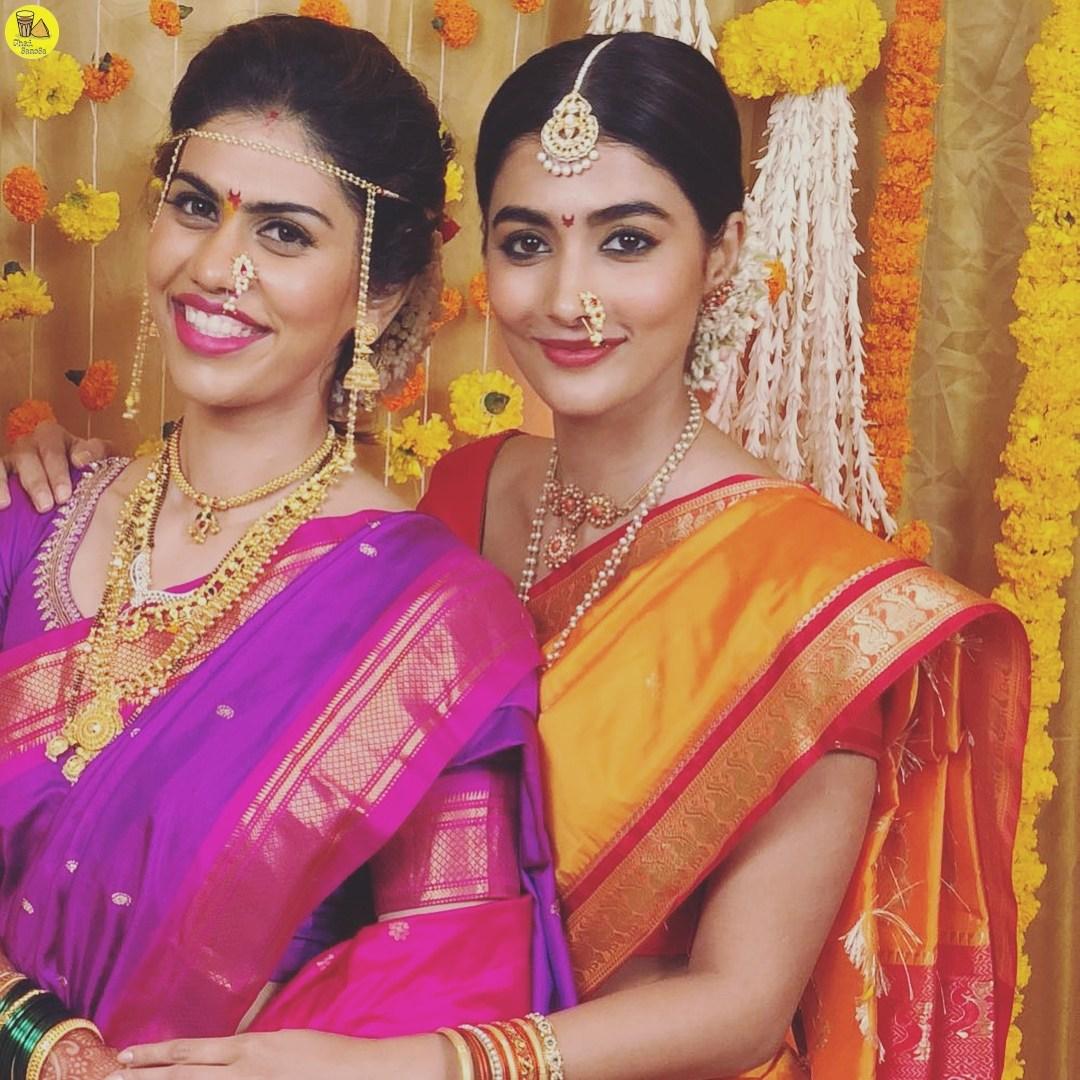 pooja hegde in traditional maharashtrian photos 4