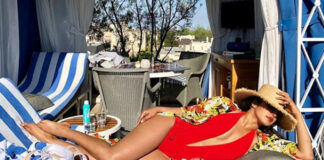 Priyanka Chopra Flaunts Shaped Body In Red Monokini