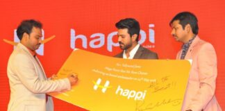 Ram Charan is Brand Ambassador of Happi Mobiles