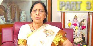 Yaddanapudi Sulochana Rani Passed Away