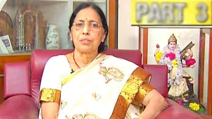 Yaddanapudi Sulochana Rani Passed Away