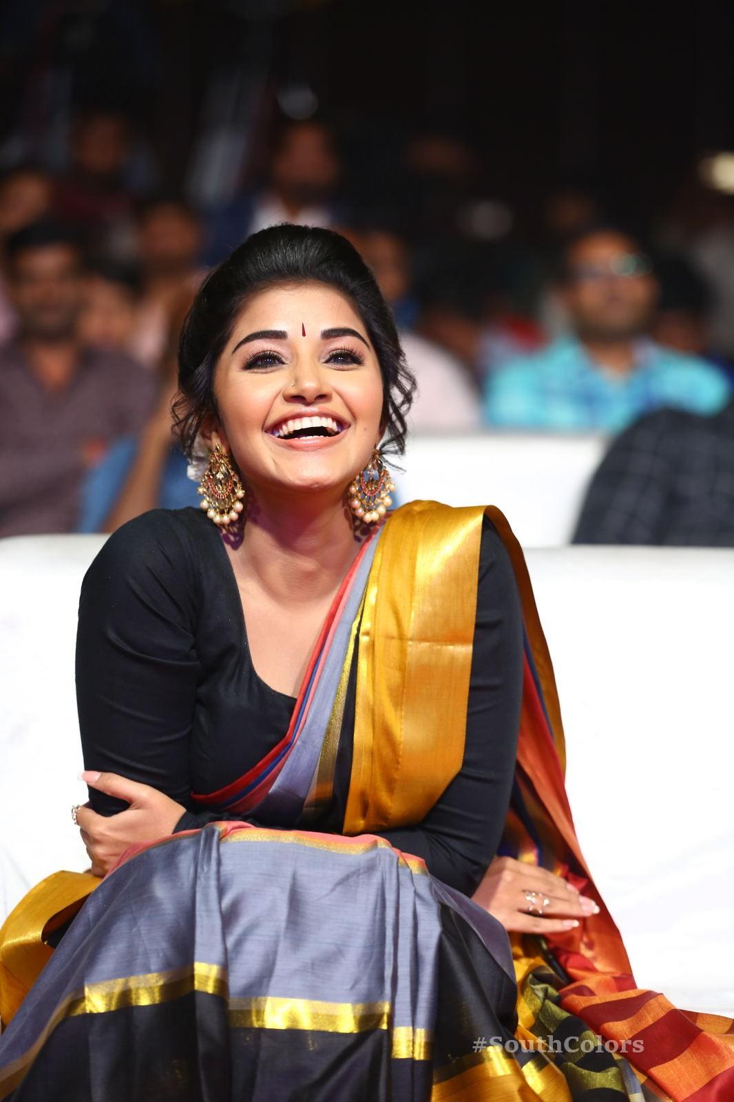Anupama Parameswaran Saree Photos at Tej I Love U Audio Launch 16
