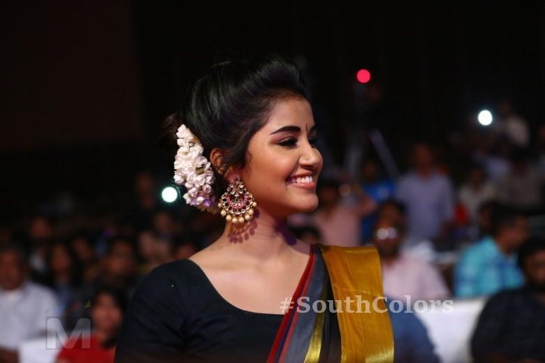 Anupama Parameswaran Saree Photos at Tej I Love U Audio Launch 2