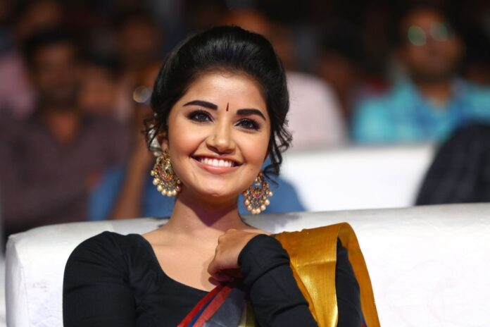 Anupama Parameswaran Saree Photos at Tej I Love U Audio Launch