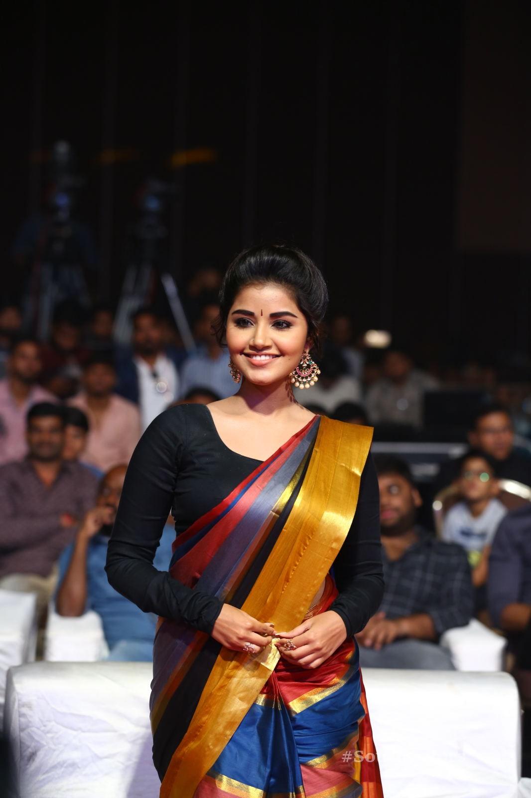 Anupama Parameswaran Saree Photos at Tej I Love U Audio Launch 6