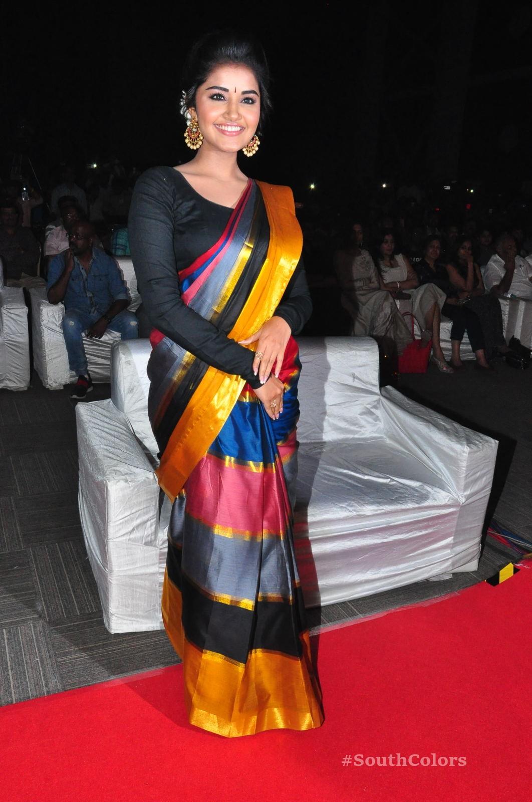 Anupama Parameswaran Saree Photos at Tej I Love U Audio Launch 7