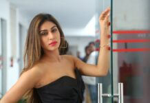 Myra Sareen Latest Black Dress Photos