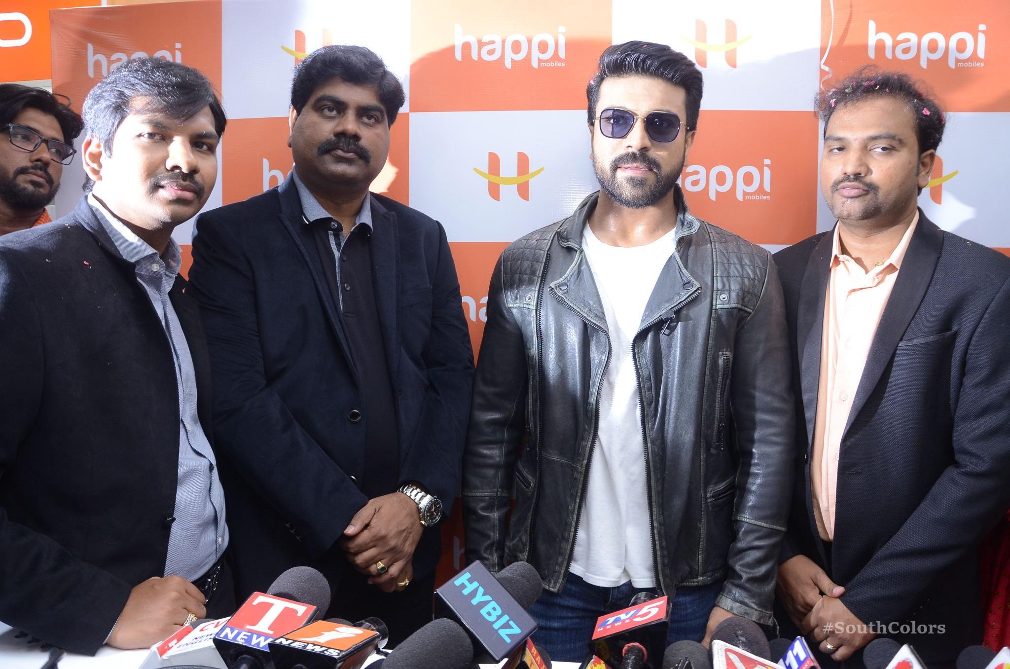 Ramcharan Happi Mobiles Store Launch Photos at Chanda Nagar Southcolors 16