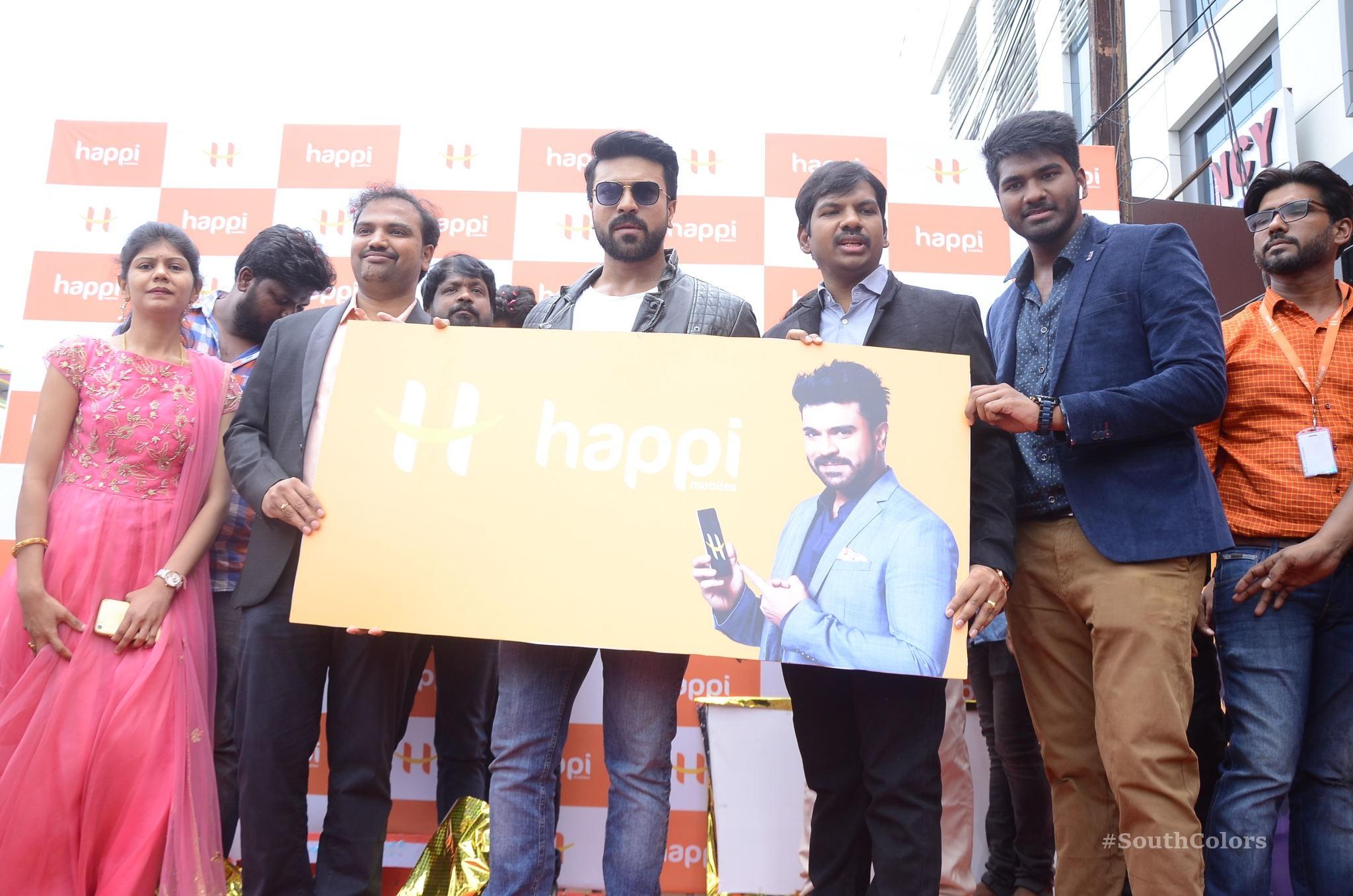 Ramcharan Happi Mobiles Store Launch Photos at Chanda Nagar Southcolors 19