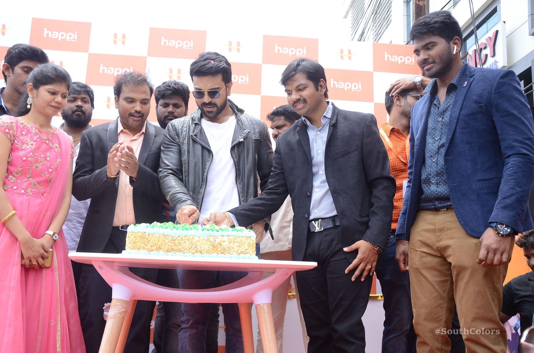 Ramcharan Happi Mobiles Store Launch Photos at Chanda Nagar Southcolors 20