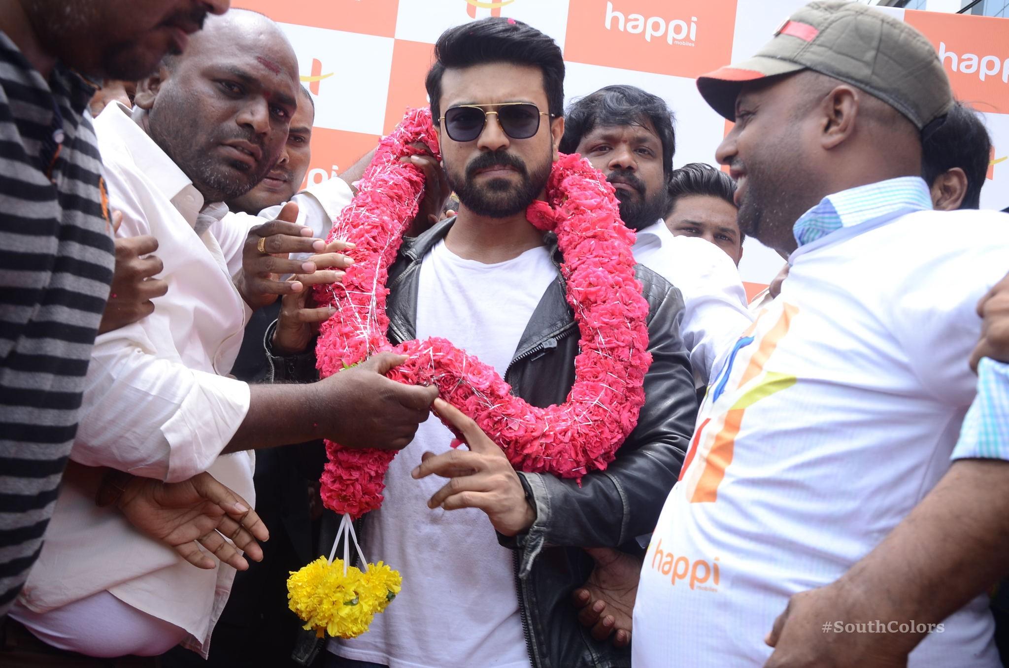 Ramcharan Happi Mobiles Store Launch Photos at Chanda Nagar Southcolors 22