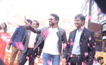 Ram Charan Happi Mobiles Store Launch Photos at Chanda Nagar