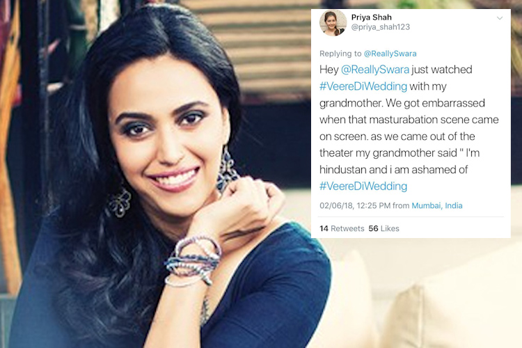 Swara Bhasker Masturbation Scene in Veere Di Wedding