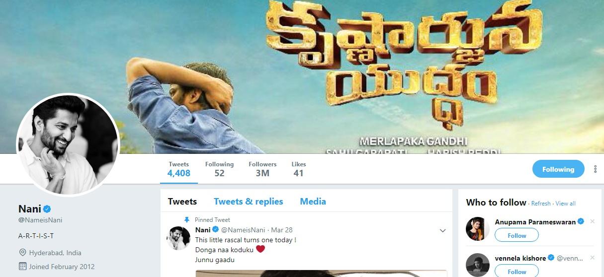 Nani Twitter Followers