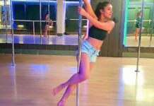 Actress Malavika Sharma Hot Pole Dance Video