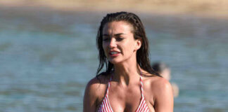 Amy Jackson Hot Bikini Photos at Beach