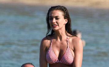 Amy Jackson Hot Bikini Photos at Beach