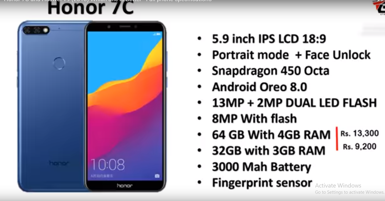 Honor 7C Open Sale Via Amazon