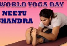 Neetu Chandra Hot Yoga Postures