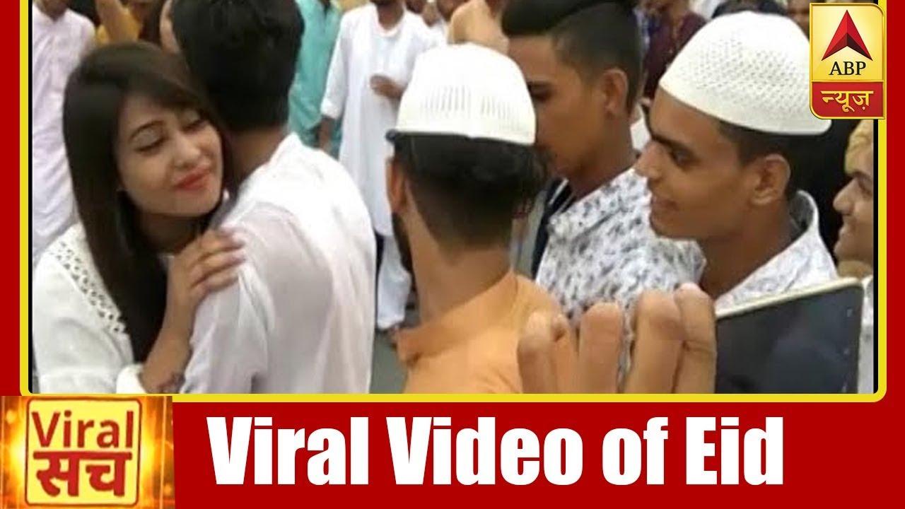Muslim Girl Hugs 100 Boys