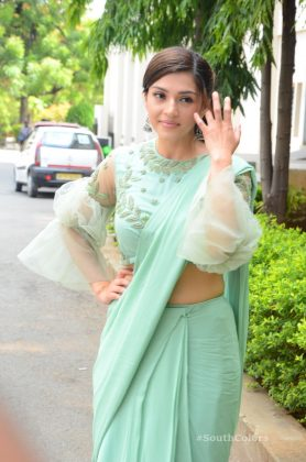 mehrene pirzada photos at pantham movie trailer launch southcolors 5