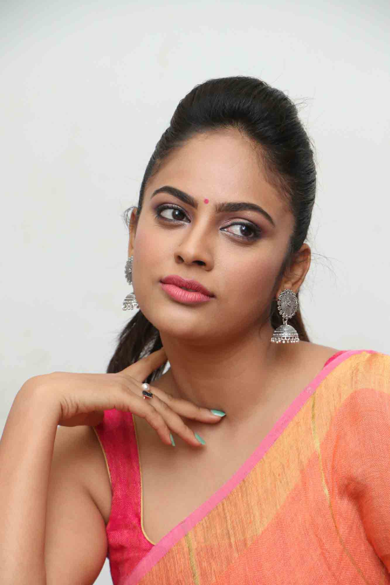 nandita sweta saree photos at asuravatham press meet southcolors 13