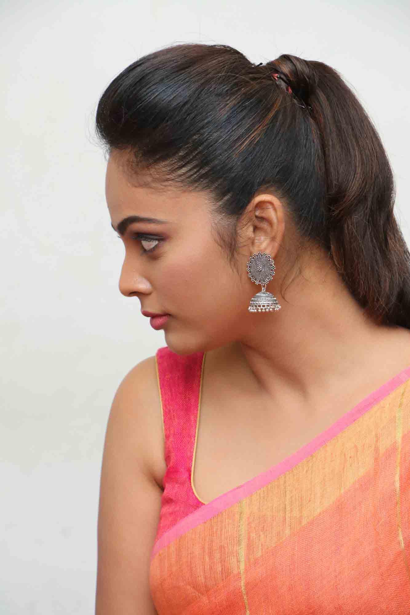 nandita sweta saree photos at asuravatham press meet southcolors 14