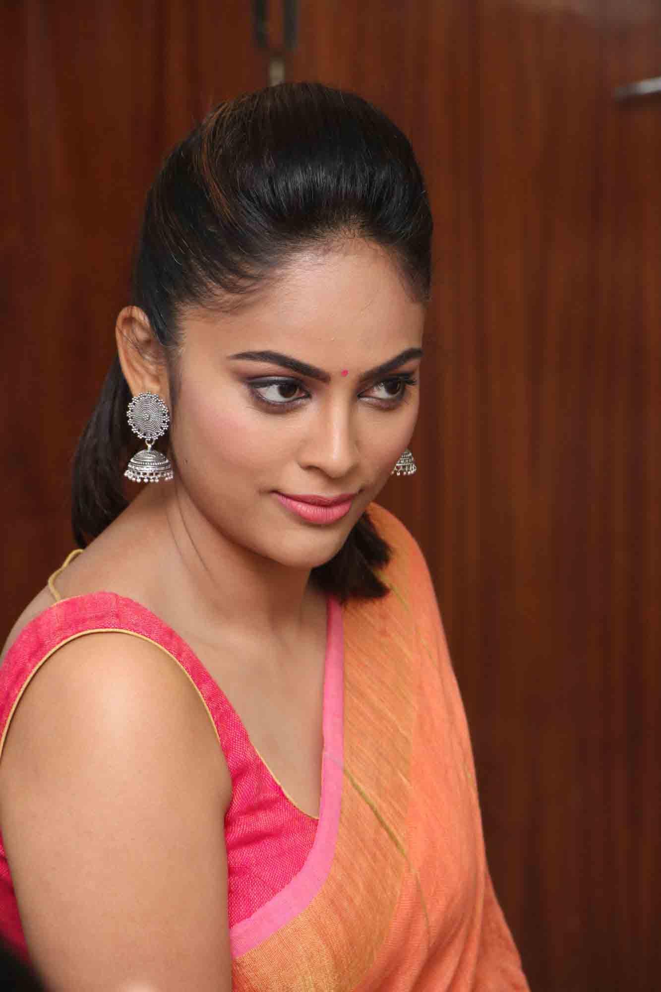 nandita sweta saree photos at asuravatham press meet southcolors 19