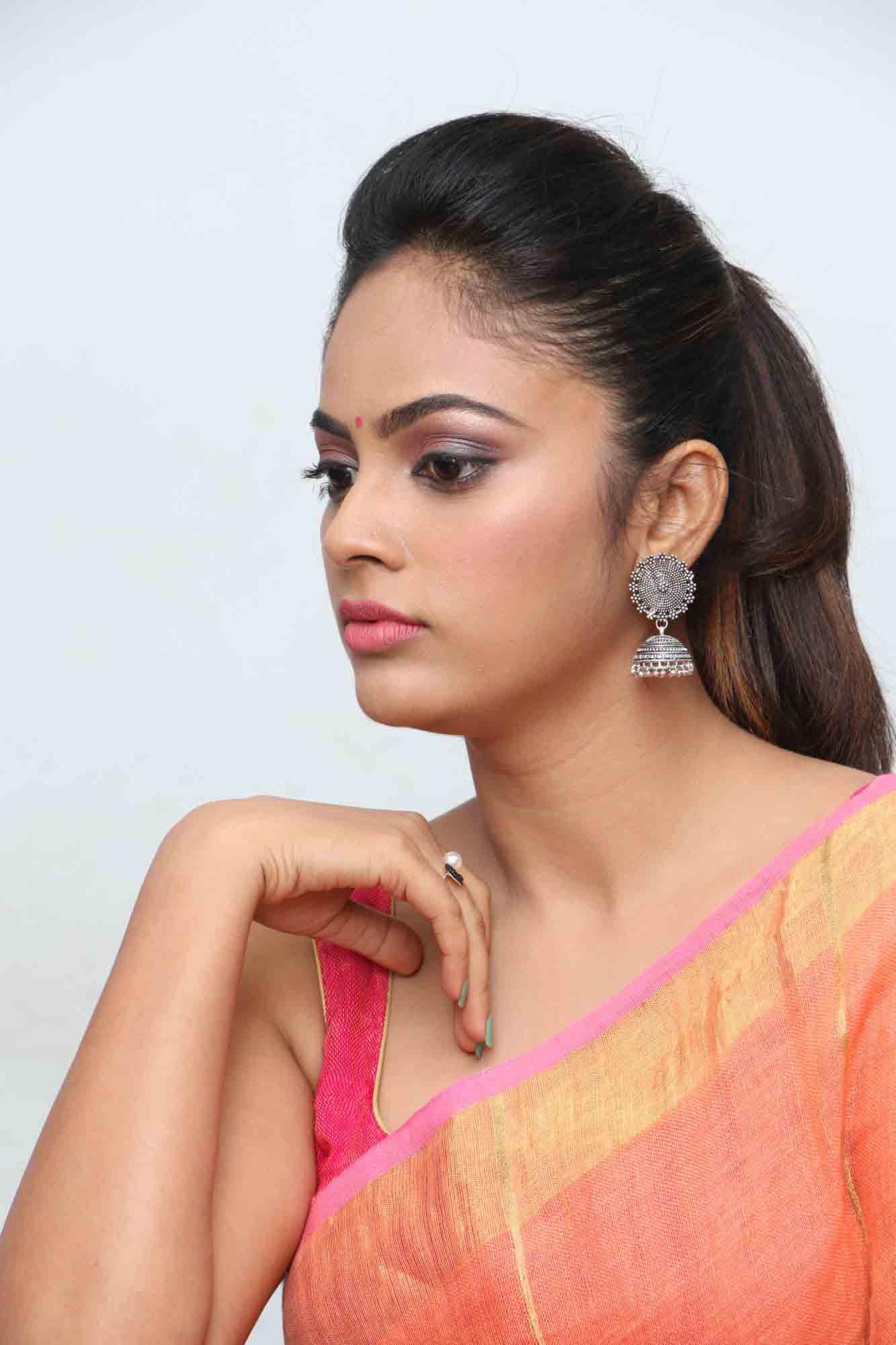nandita sweta saree photos at asuravatham press meet southcolors 2