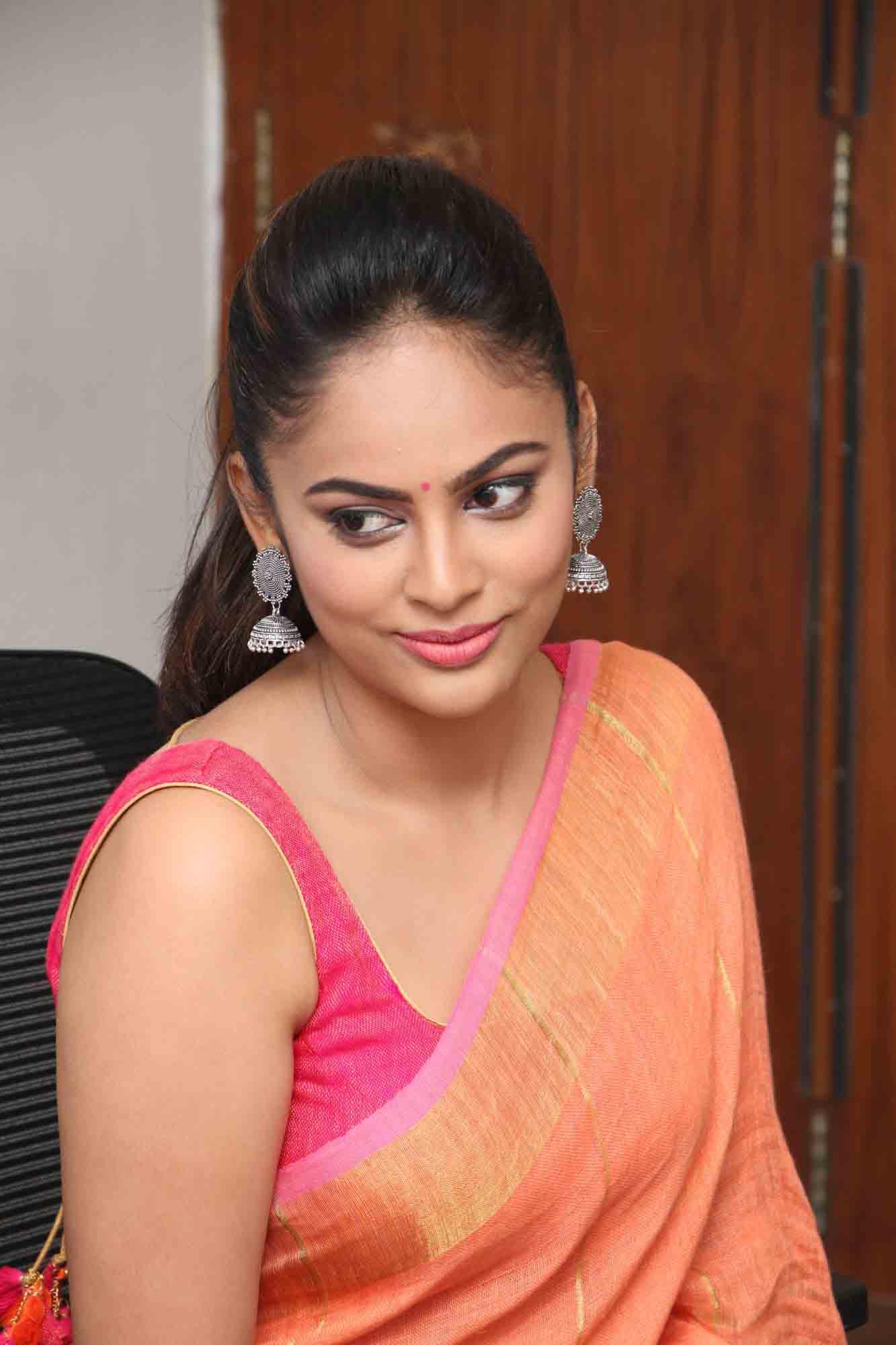 nandita sweta saree photos at asuravatham press meet southcolors 20