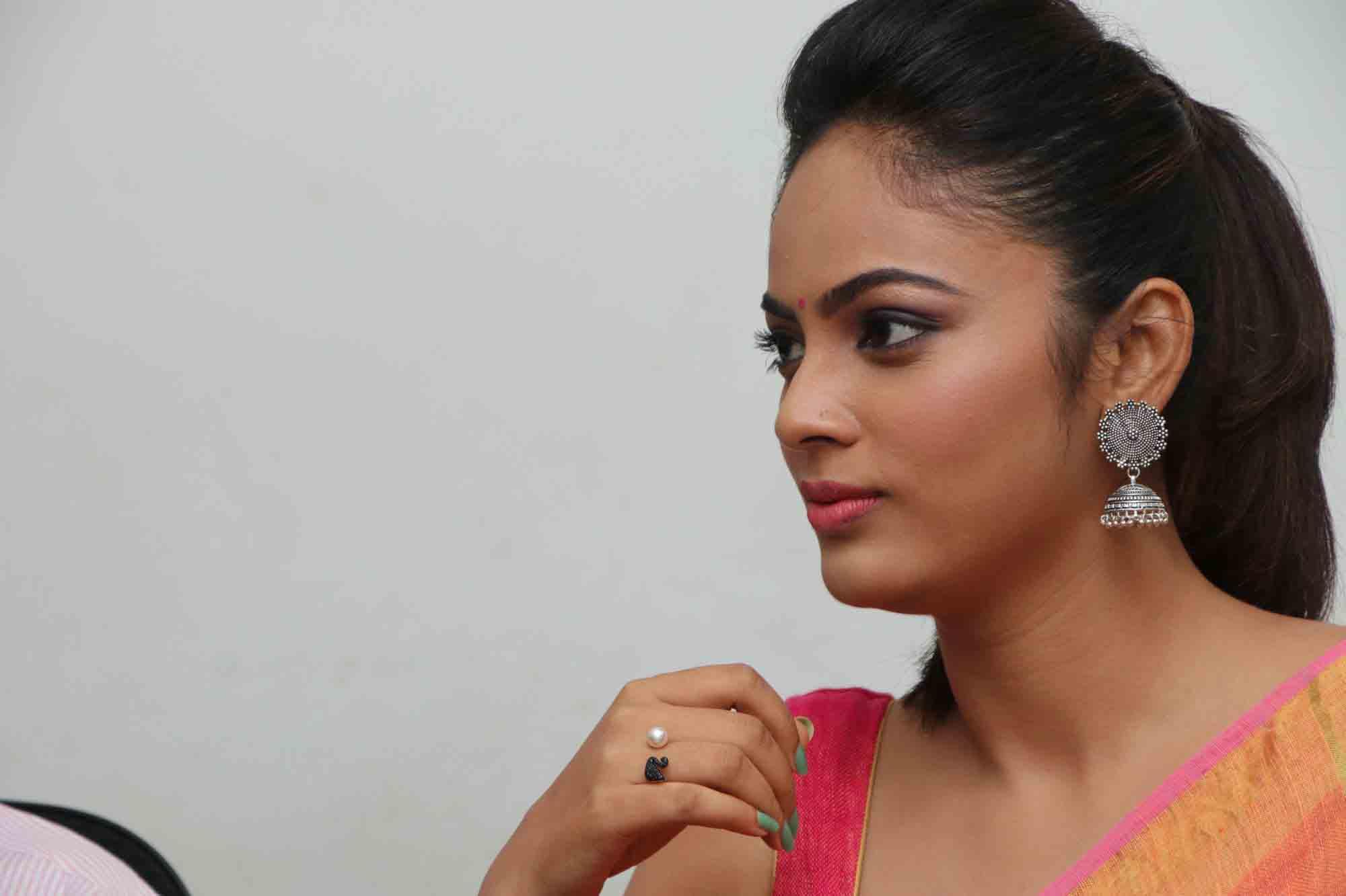 nandita sweta saree photos at asuravatham press meet southcolors 7