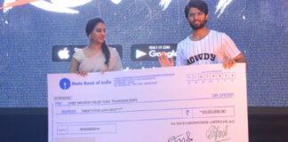 Vijay Devarakonda Filmfare Award Auctioned for Rs 25 Lakhs