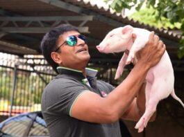 Actor Ravi Babu Fitness Challenge with Piglet