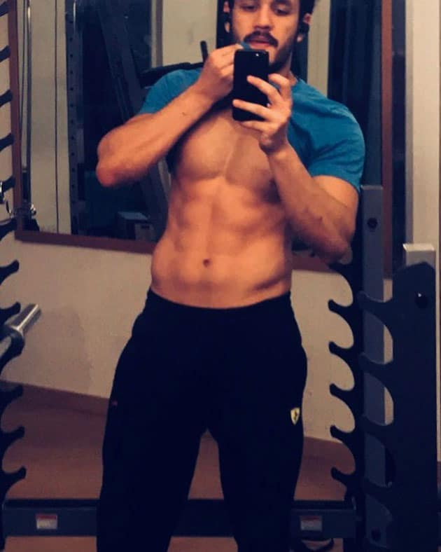 Akhil Akkineni Six Pack Body Picture Shared Instagram