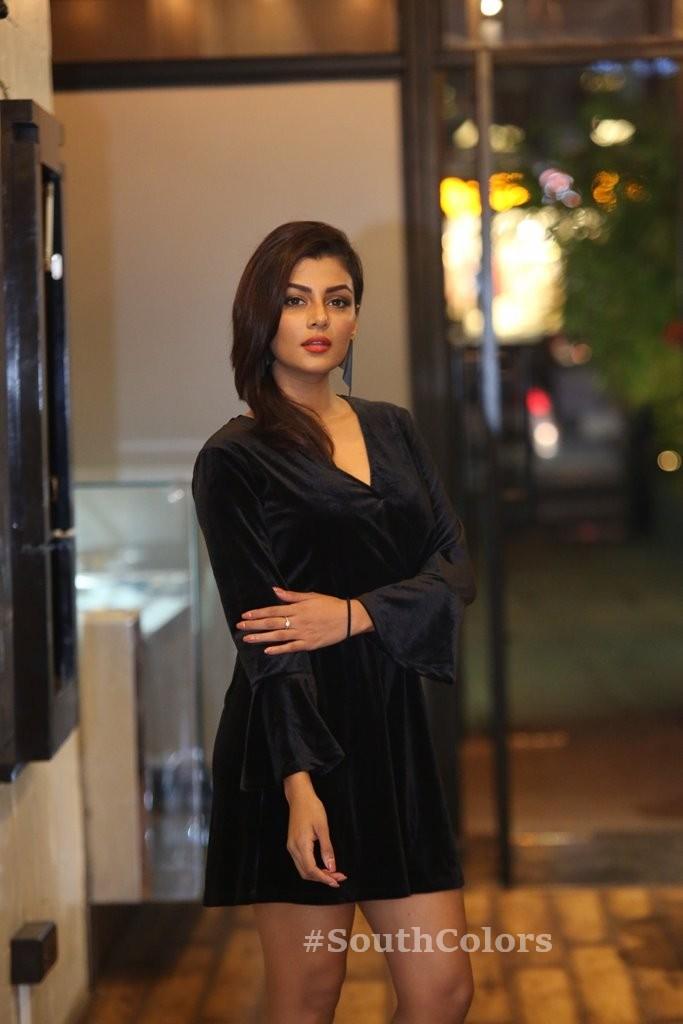 anisha ambrose hot black dress photos southcolors 12