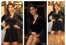 Anisha Ambrose Hot Black Dress Photos