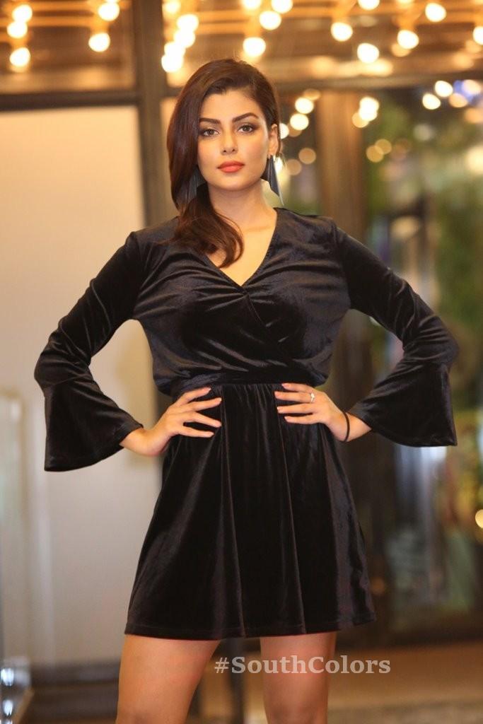 anisha ambrose hot black dress photos southcolors 20