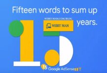 Google Celebrating 15 Years of AdSense