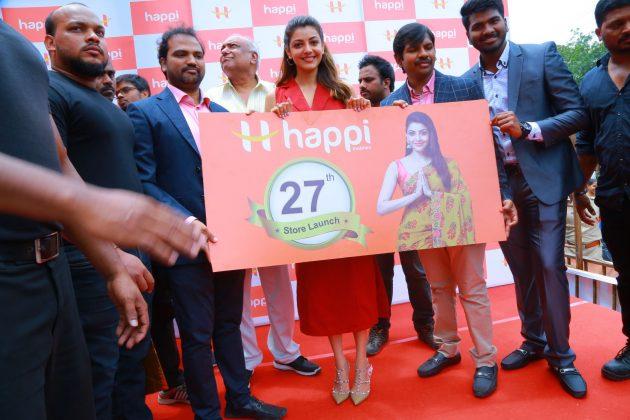 kajal aggarwal red dress photos at happi mobiles launch at hanumakonda 12