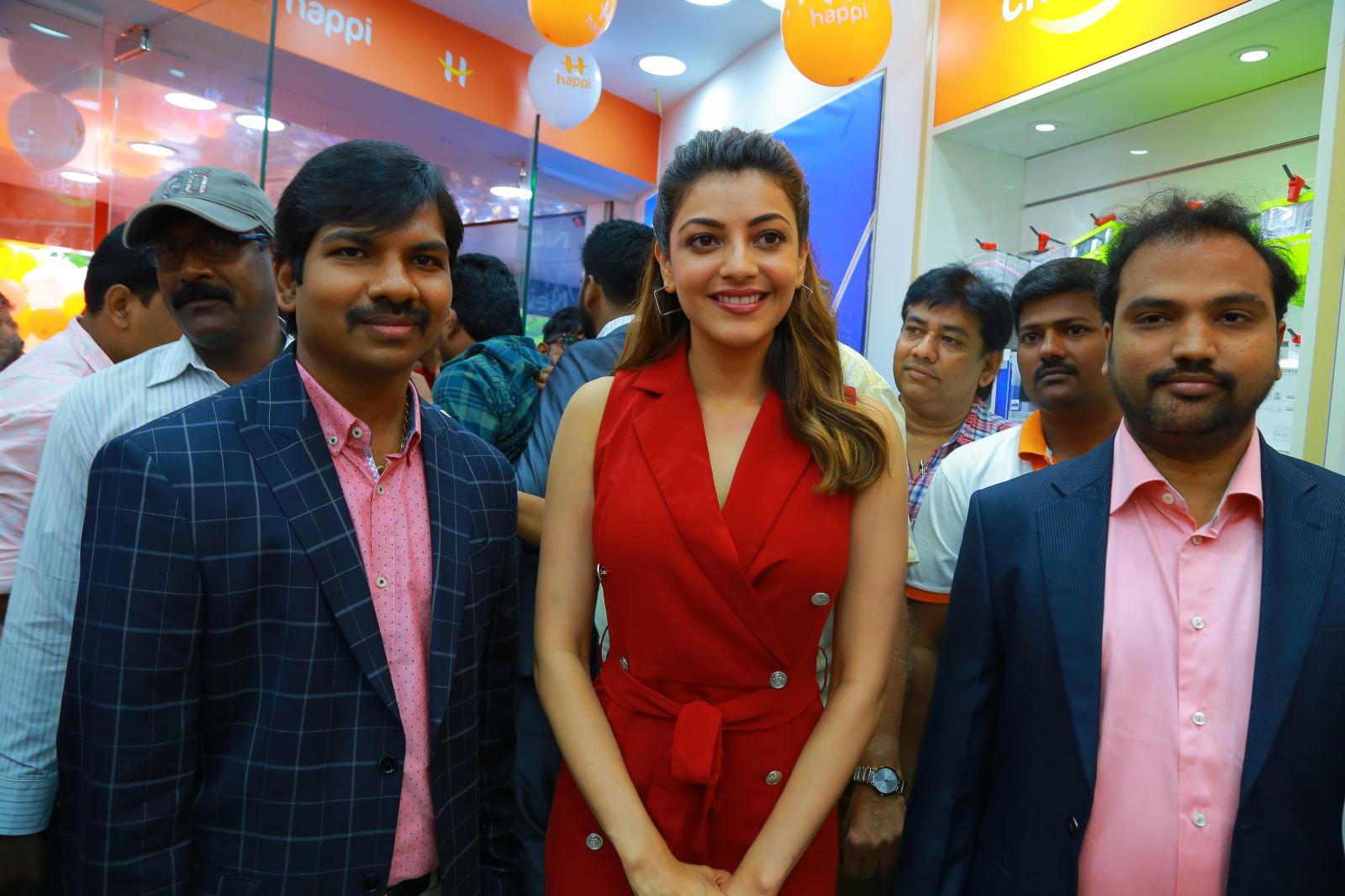 Kajal Aggarwal Red Dress Photos